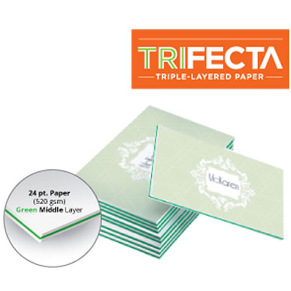 trifecta green business cards